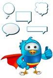 Super Blue Bird - Giving A Thumbs Up Stock Photo
