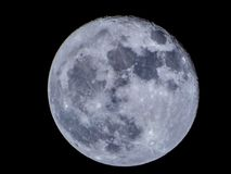 Super blue moon view from Bucharest Stock Photography