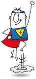 Super bohater w akci royalty ilustracja