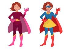 Super bohatera kobieta Zdjęcia Stock
