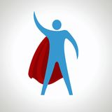 Super bohatera kreskówki sylwetki ikona Abstrakt Fotografia Royalty Free