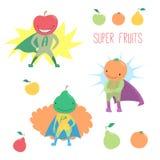 Super bohatera owoc ilustracji