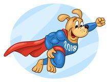 Super bohatera psa latanie w niebie Fotografia Royalty Free