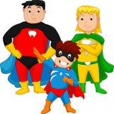 Super bohatera rodzina Zdjęcie Stock
