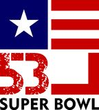 Super Bowl 53 royaltyfri illustrationer