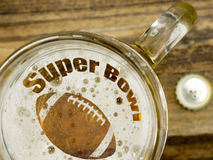 Super Bowl in a beer royalty free stock photo
