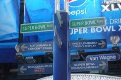Super Bowl-Boulevard Stockbild