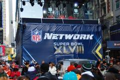 Super Bowl-Boulevard - de Stad van New York Stock Foto