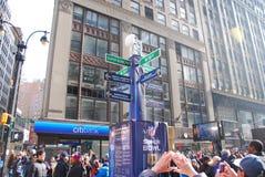 Super Bowl-Boulevard - New York City Lizenzfreies Stockfoto