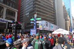 Super Bowl-Boulevard - New York City Stockbilder