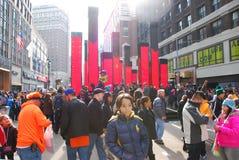 Super Bowl Boulevard - New York City Stock Photography