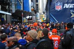 Super Bowl Boulevard - New York City Royalty Free Stock Photography