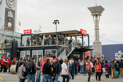Super Bowl City Levi's in San Francisco Stock Photography