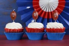 Super Bowl Cupcakes Stock Photography