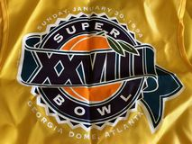 Super Bowl XXVIII. Super Bowl media vest was worn by media on the sidelines for the game stock photography