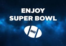 Super Bowl motivation for better football game royalty free illustration aee5d1b10
