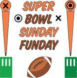Super Bowl Niedziela Obraz Royalty Free