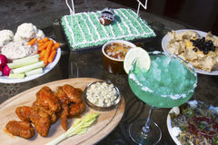 Super Bowl Party Buffet Stock Photo