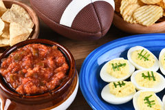 Super Bowl-Snacks stock foto
