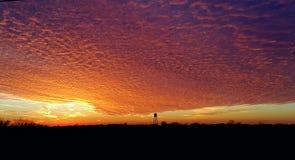 Super Bowl sunset!!!. Beautiful sunset just outside of Dearborn Missouri on Super Bowl 2017 stock image