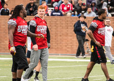 Super Bowl 7 on 7 Tournament. Andy Dalton and teammates at the tournament Stock Images