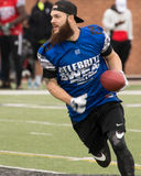 Super Bowl 7 on 7 Tournament. Houston Astros Pitcher Dallas Kuikell makes three touchdowns Stock Images
