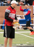 Super Bowl 7 on 7 Tournament. Kirk Cousins, Quarterback of the Red team Stock Photography