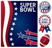 Super Bowl Ustawiający ilustracja wektor