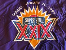Super Bowl XXIX. Super Bowl media vest was worn by media on the sidelines for the game royalty free stock photo