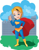 Super Boy  illustration Royalty Free Stock Photos