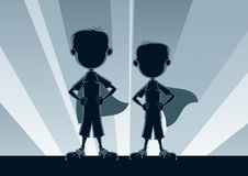 Super Boys Silhouettes Stock Images