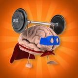 Super brain royalty free illustration