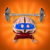 Super brain vector illustration