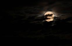 Super bright full moon Stock Photo