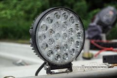 Super bright LED spot light, high luminosity . Super bright LED spot light, high luminosity royalty free stock images