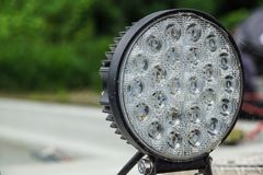 Super bright LED spot light, high luminosity . Super bright LED spot light, high luminosity royalty free stock photography