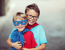 Super brothers Royalty Free Stock Image