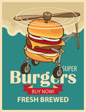 Super burger helicopter Stock Images