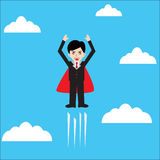 Super Business Man Royalty Free Stock Photography