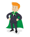 Super Business man. Vector illustration of a business man wearing a cape Stock Images