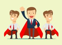 Super business team royalty free illustration