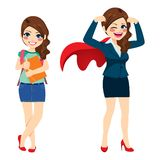 Super Business Woman royalty free illustration