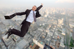 Super businessman royalty free stock images