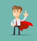 Super Businessman. Business concept royalty free illustration