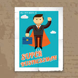Super Businessman with Cape and Briefcase Graphic Stock Photos