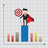 Super Businessman Concept Royalty Free Stock Photography