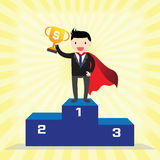 Super Businessman Concept Royalty Free Stock Photos