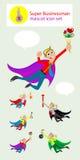 Super businessman mascot Stock Photo