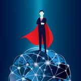 Super Businessman royalty free illustration