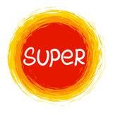 super Calligraphic inspirerande design för vektor royaltyfri illustrationer